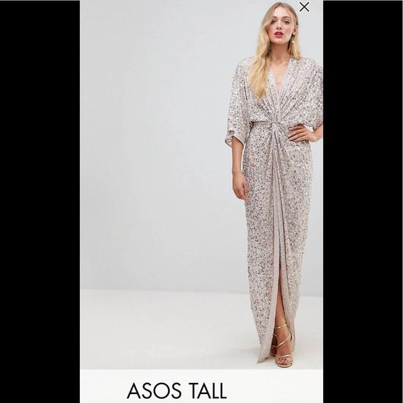 1bae333224 ASOS Dresses & Skirts - Asos Tall Sequin Kimono Dress
